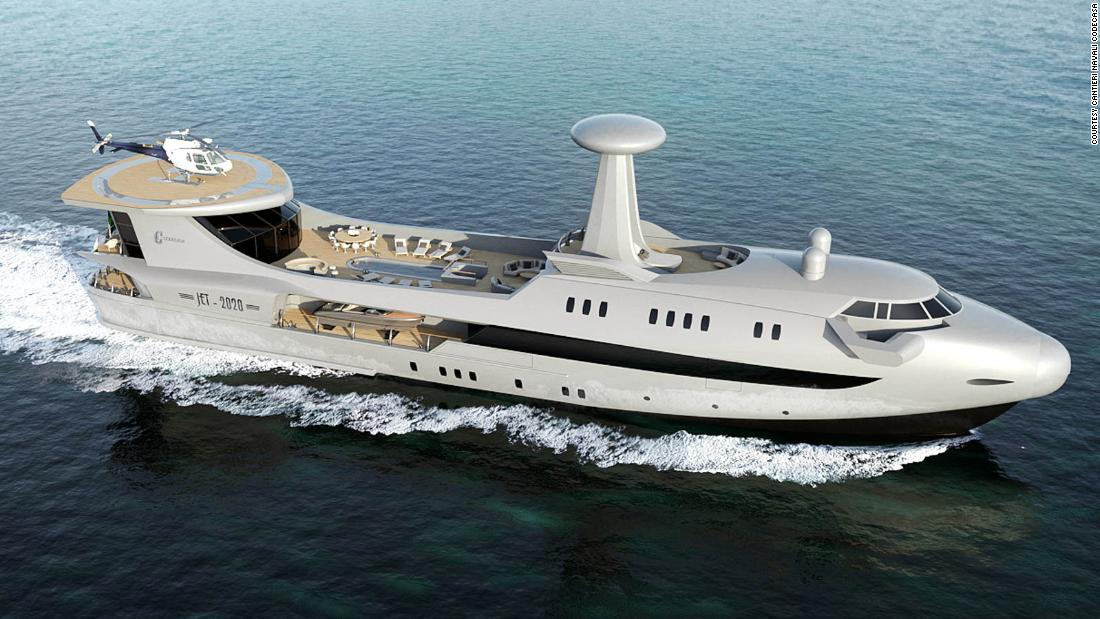Will this new jumbo jet style superyacht take off?